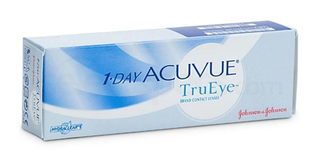 30 Lenses 1 Day Acuvue TruEye Lenses, Johnson & Johnson