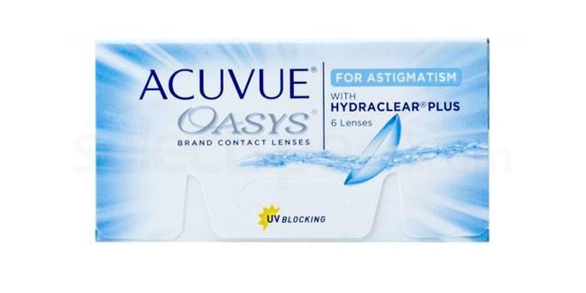6 Lenses Acuvue Oasys for Astigmatism Lenses, Johnson & Johnson