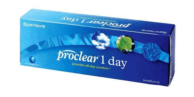 30 Lenses Proclear 1 Day Lenses, CooperVision