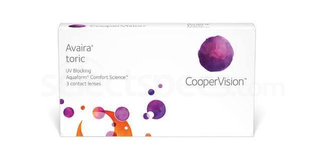 3 Lenses Avaira Toric Lenses, CooperVision