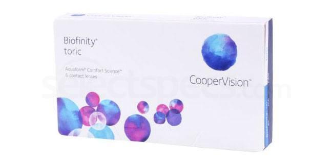 3 Lenses Biofinity Toric Lenses, CooperVision