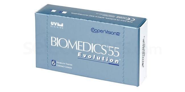 3 Lenses Biomedics 55 Evolution Lenses, CooperVision