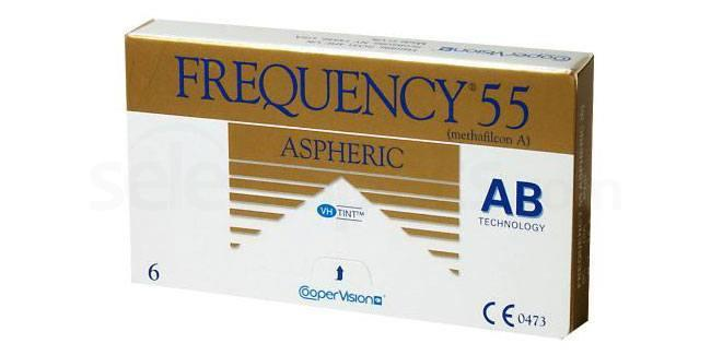 3 Lenses Frequency 55 Aspheric Lenses, CooperVision