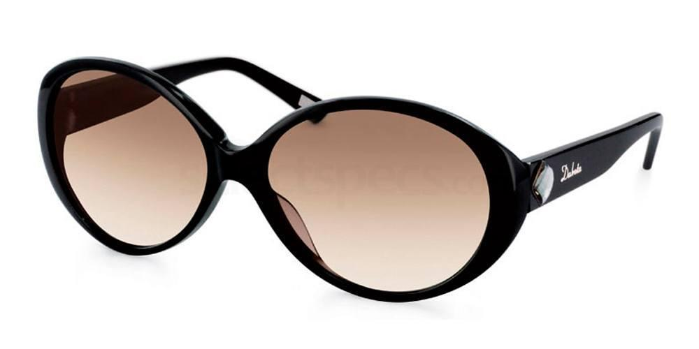 Dakota big black oval sunglasses