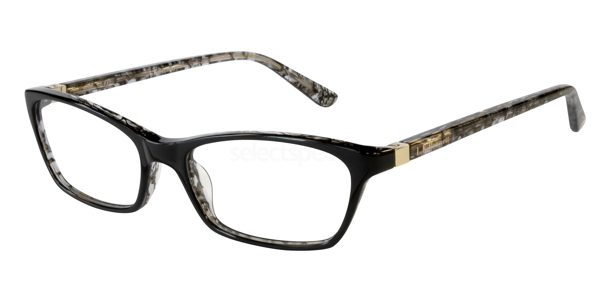 Black LKB014 Glasses, L.K.Bennett