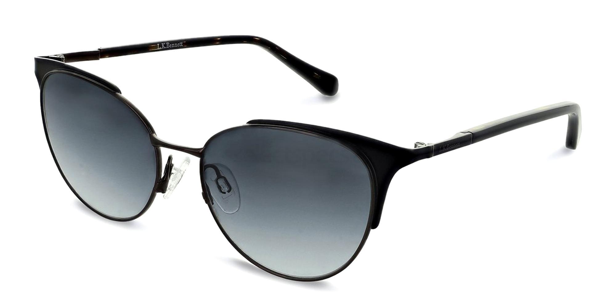 Black LKBSUN20 Sunglasses, L.K.Bennett