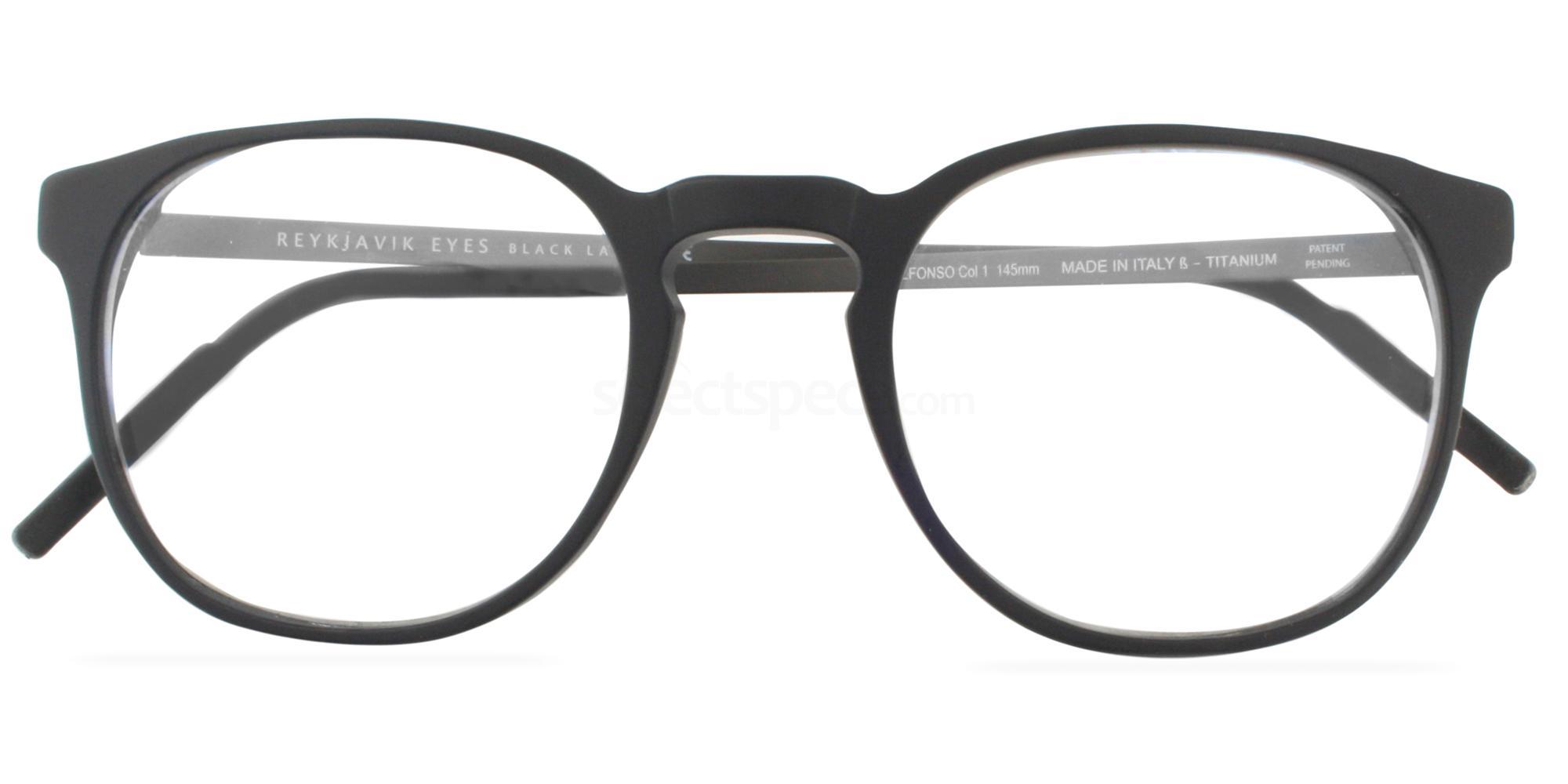 C1 ALFONSO Glasses, Reykjavik Eyes Black Label
