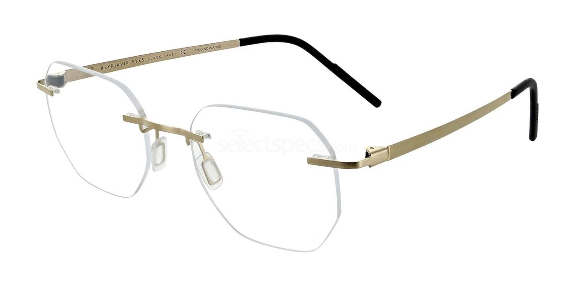 18K GOLD HENGILL GOLD EDITION Glasses, Reykjavik Eyes Black Label