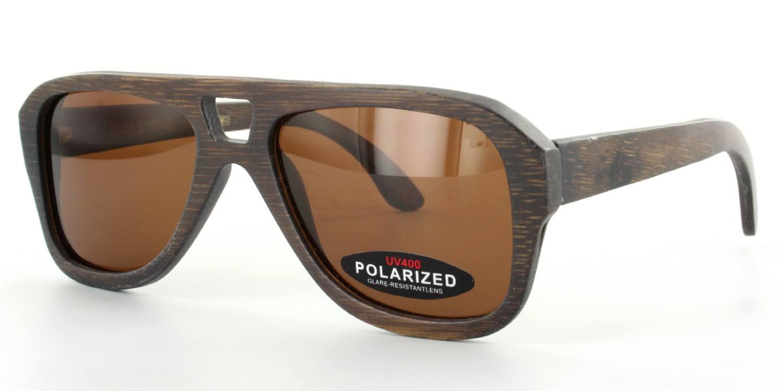 Dark Brown FX-105 - Bamboo frame & Case Sunglasses, Arbor