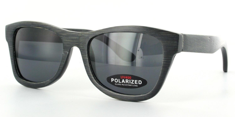 Black FX-122 - Bamboo frame & Case Sunglasses, Arbor