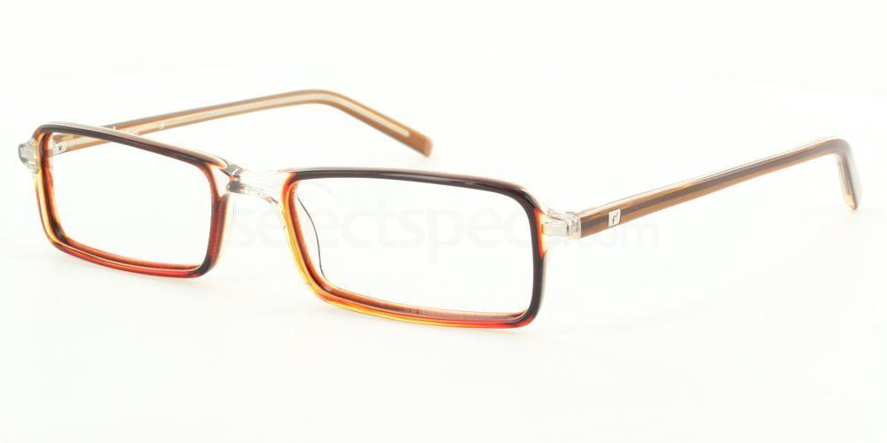 Brown and Transparent 65.1116.023 (Brown) Glasses, Antares
