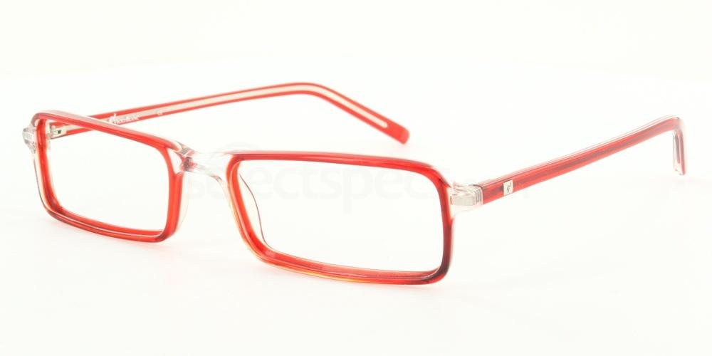Red and Transparent 65.1138.023 (Red) Glasses, Antares