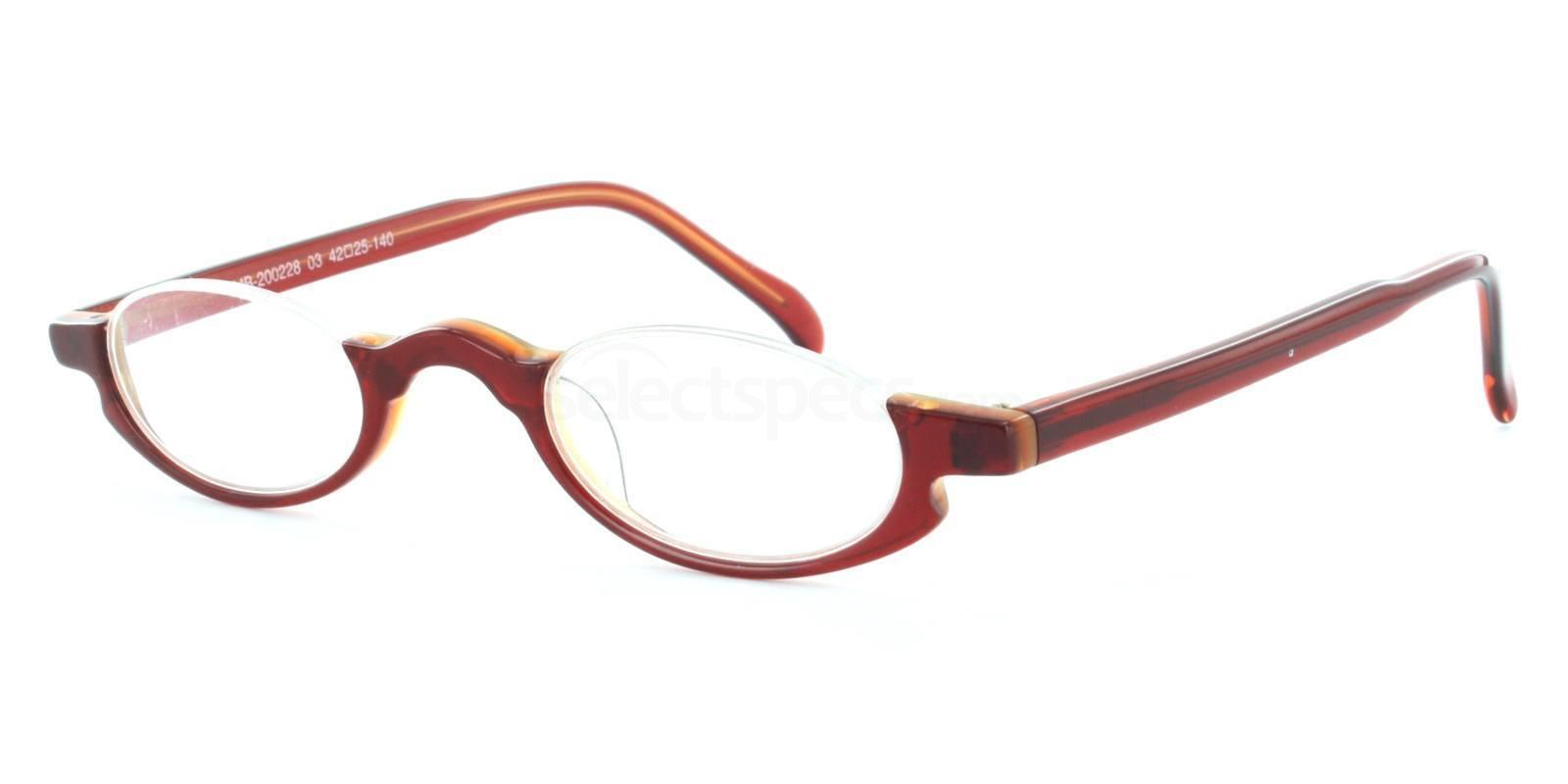 C03 Brown MB200228 (Half-Moon) Glasses, Antares