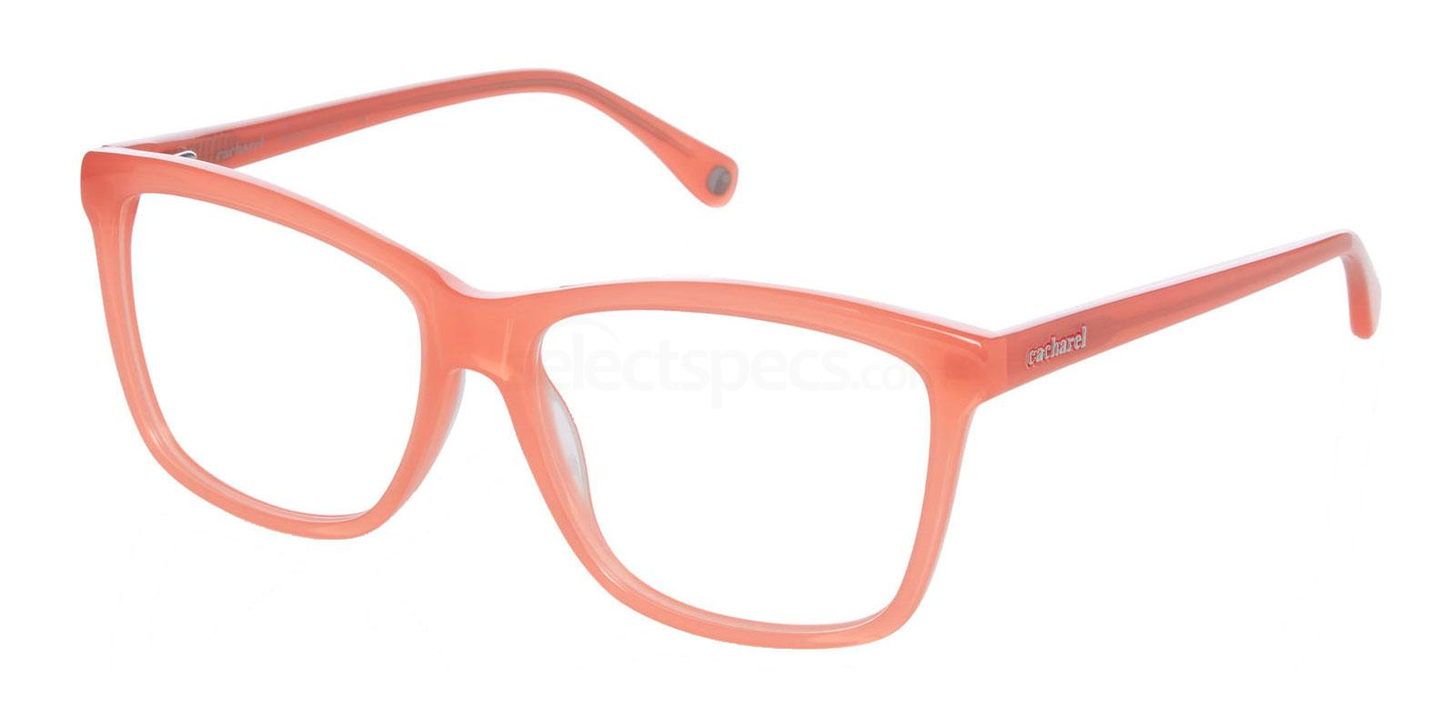 cacharel pink glasses