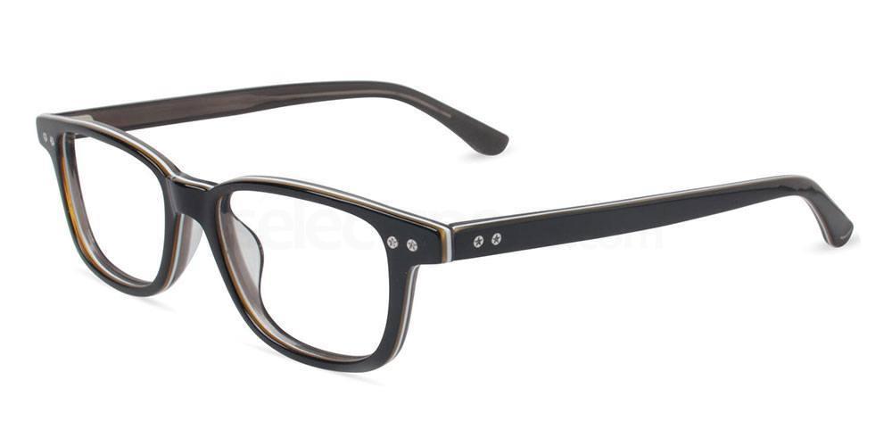 BLACK STRIPE UF P012 Glasses, Converse Jack Purcell