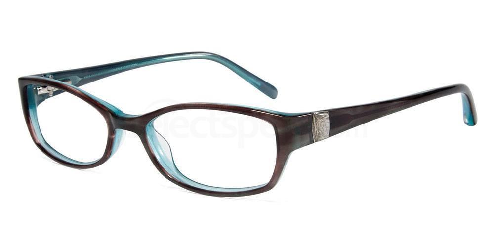 BROWN/BLUE J214 Glasses, Jones New York