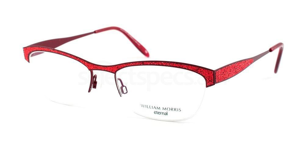 glitter prescription glasses William Morris red