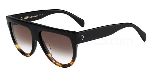 Celine black oval sunglasses