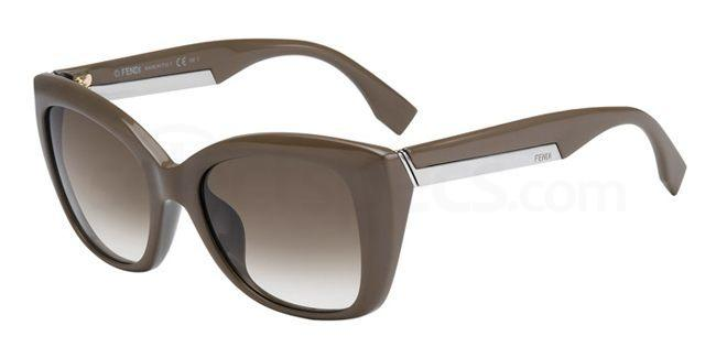 nude sunglasses fendi dark nude