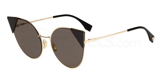black cat eye sunglasses Fendi