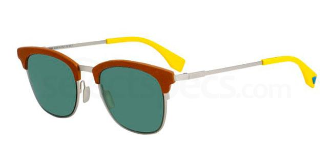 Green Fendi sunglasses