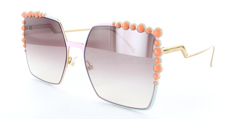 Fendi squared sunglasses