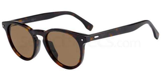 086  (70) FF M0001/S Sunglasses, Fendi