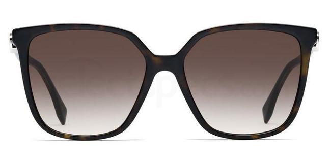 086 (HA) FF 0318/S Sunglasses, Fendi