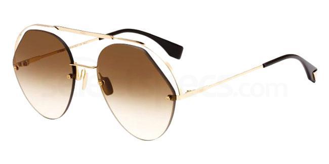 09Q (HA) FF 0326/S Sunglasses, Fendi