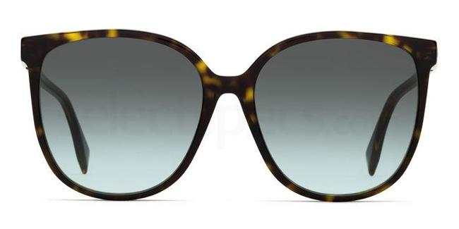 086 (EQ) FF 0374/S Sunglasses, Fendi