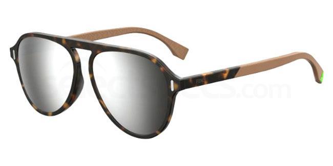 086 (T4) FF M0055/G/S Sunglasses, Fendi