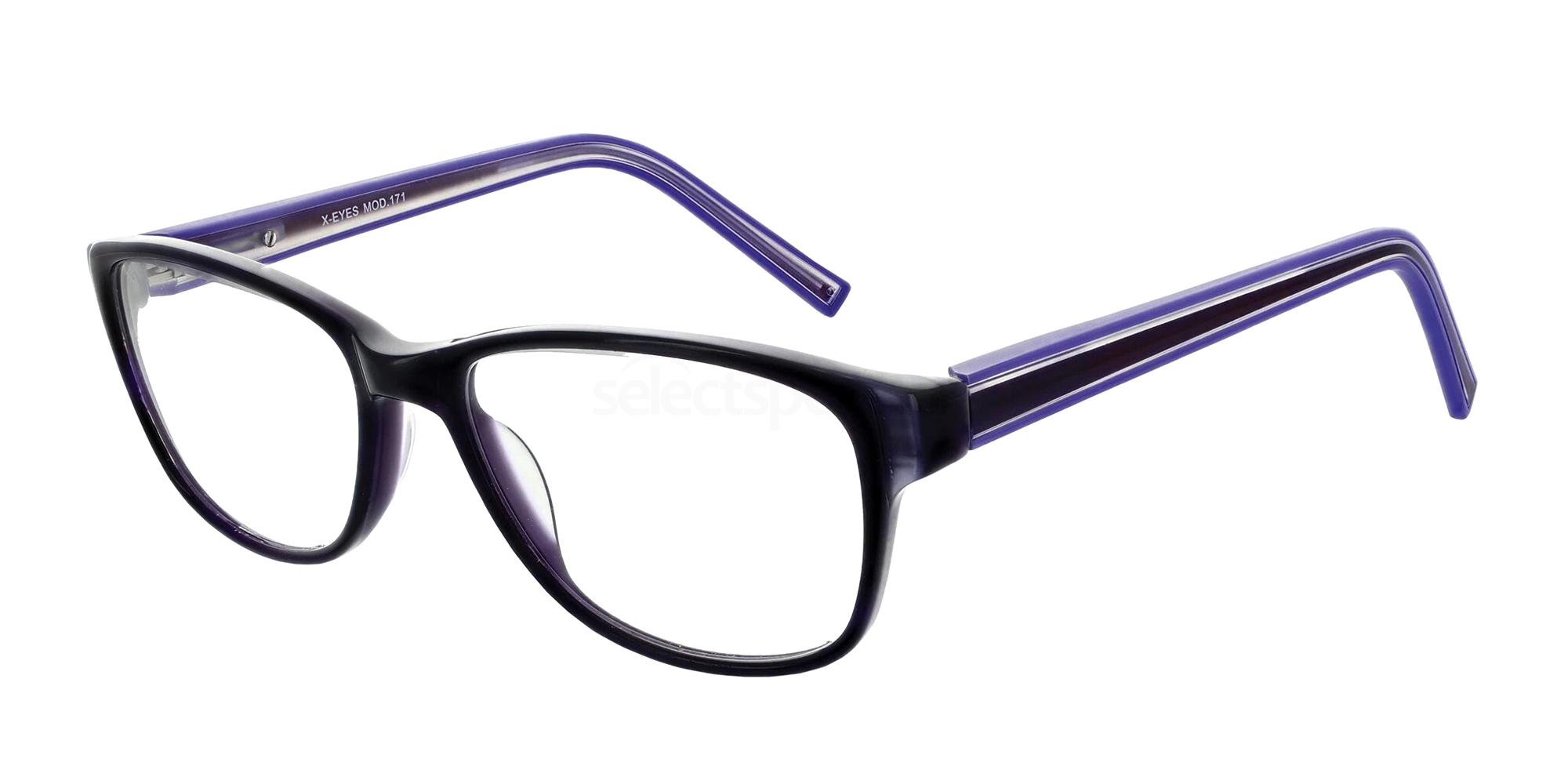 Purple 171 Glasses, X-Eyes