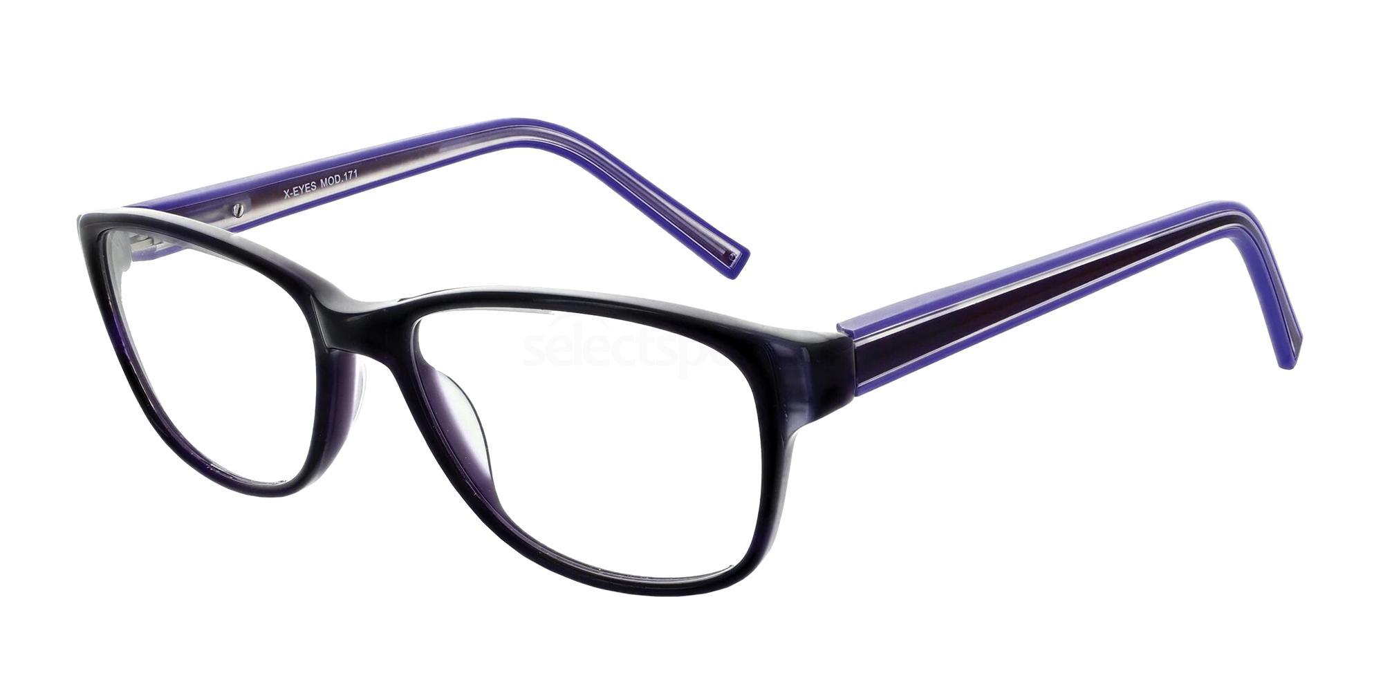 Purple 171 Glasses, X-Eyes