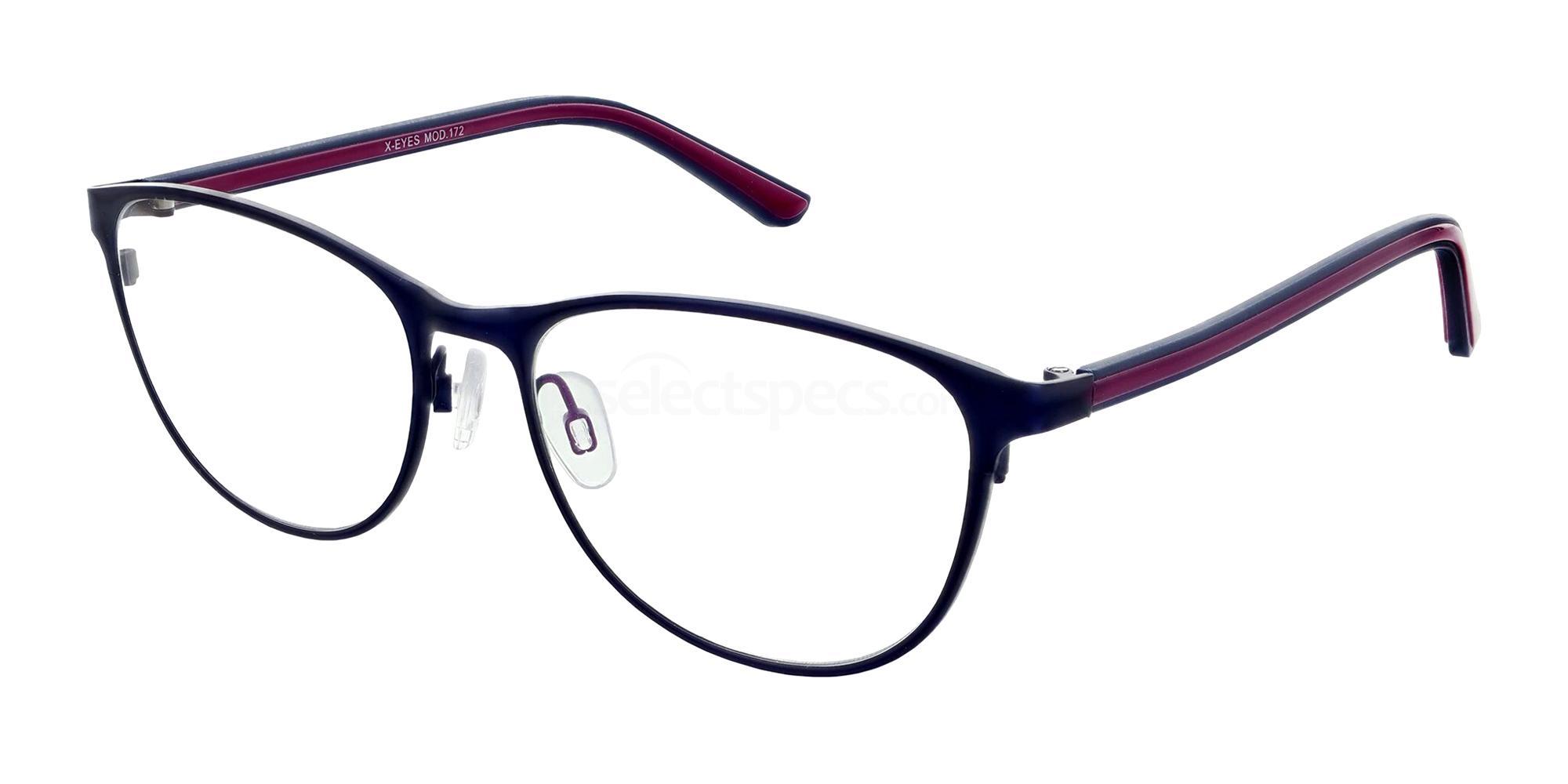 Blue 172 Glasses, X-Eyes