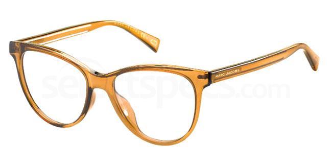 AW20 eyewear trends transparent glasses warm tones marc jacobs