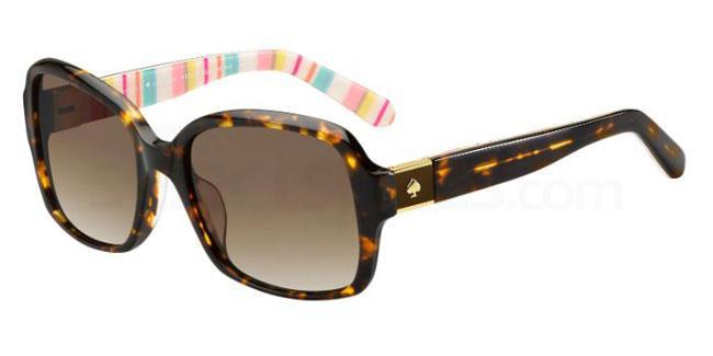 6HE (LA) ANNORA/P/S Sunglasses, Kate Spade