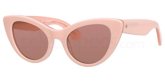 pink sunglasses cat eye Kate Spade