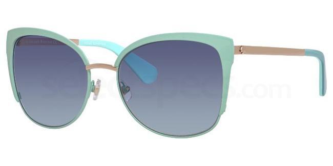 blue cat eye sunglasses Kate Space Genice