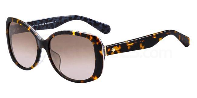 086 (HA) AMBERLYN/F/S Sunglasses, Kate Spade