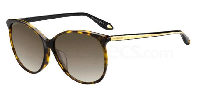 086 (HA) GV 7098/F/S Sunglasses, Givenchy