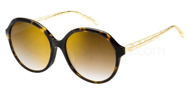 086 (JL) MM TWIST II FS Sunglasses, MaxMara Occhiali