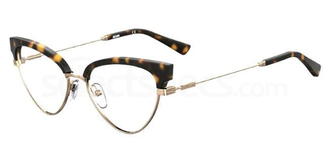 086 MOS560 Glasses, Moschino