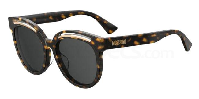 086 (IR) MOS043/F/S Sunglasses, Moschino
