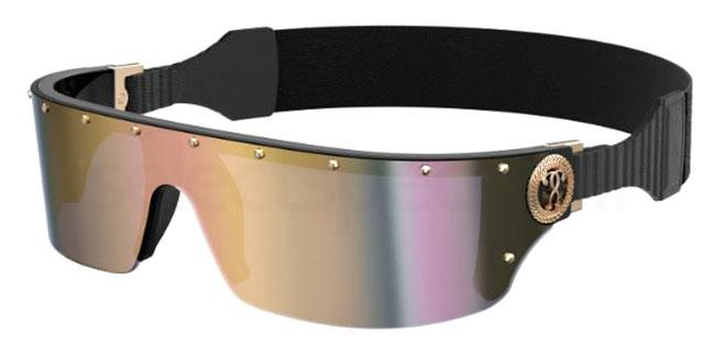ugly sunglasses trend 2021 women's sports luxe eyewear moschino