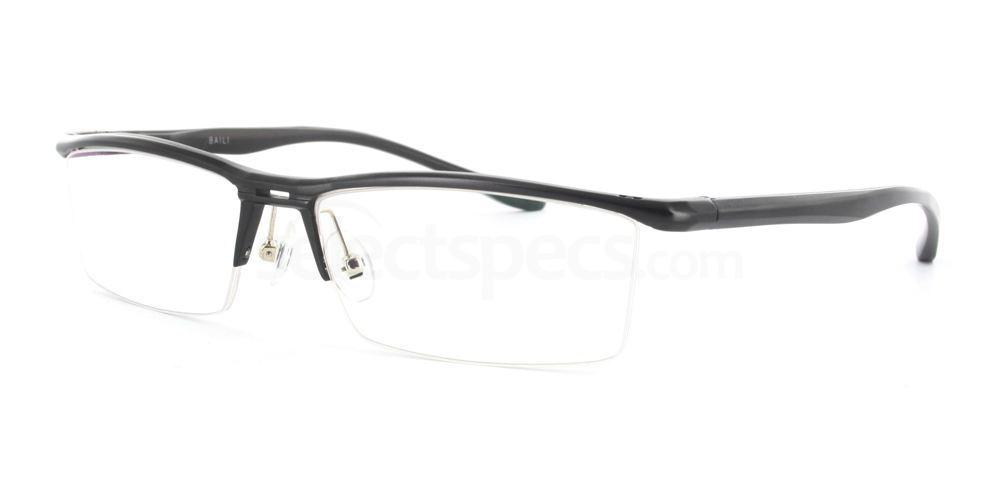 Black B130 Aluminum Glasses, Infinity