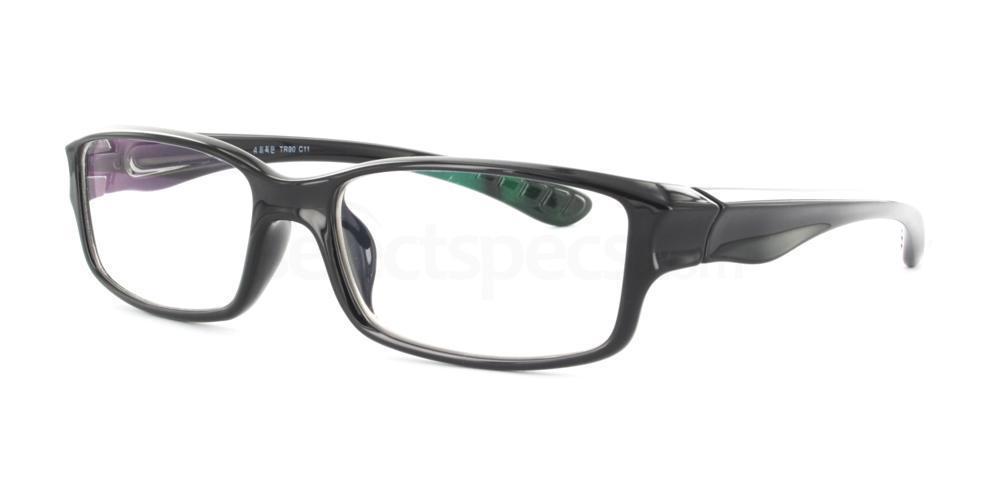 Black R33090 Glasses, Infinity