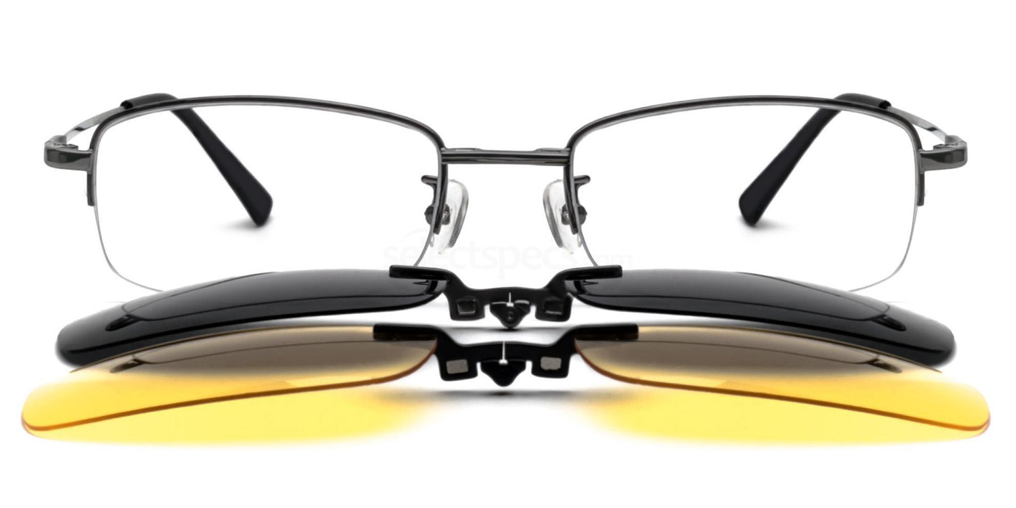 Gunmetal B8015 Glasses, Infinity