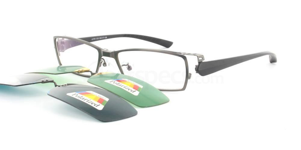 Gunmetal L8105 Glasses, Infinity
