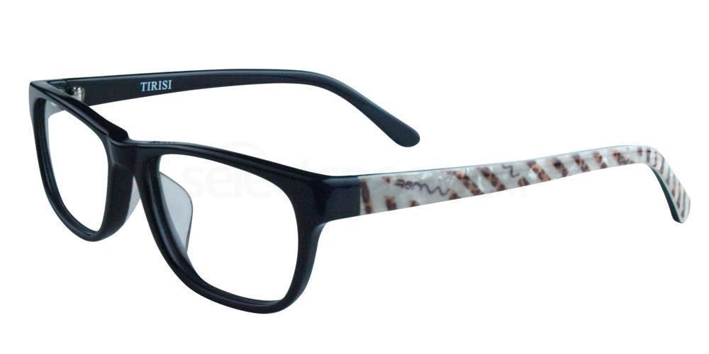 Black/Animal Print A1203 Glasses, Infinity