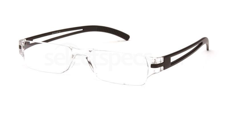 +1.50 Power Readers R05A - A: Black Accessories, Univo Readers